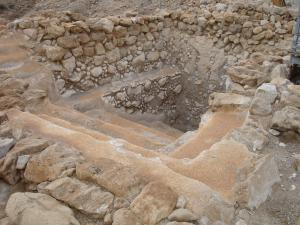 Ceremonial pool (mikvah) at Qumran