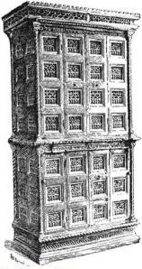 Sample Torah ark, where the sacred scrolls were kept a synagogues