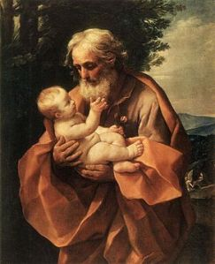 """Saint Joseph with the Infant Jesus,"" Guido Reni, 1634"