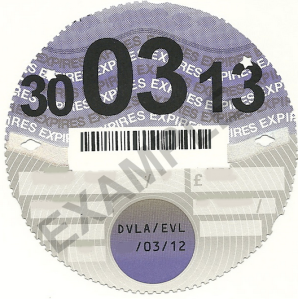 The all-important Tax Disc. Don't hit the road without it.