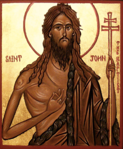 Even the Greek Orthodox iconography of John portrays him as the ultimate warrior poet.