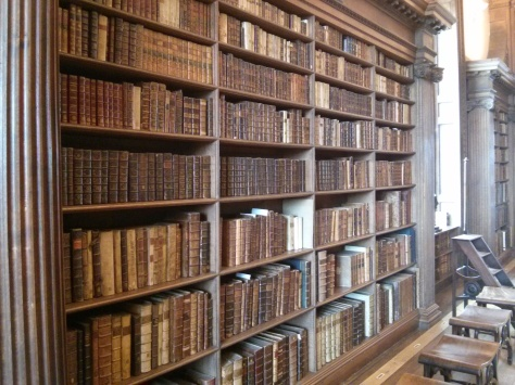 The extensive collection of very old manuscripts at Christ Church college