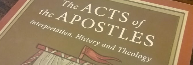 Review of a Great New Book on Acts
